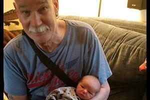 Al and his grandchild.