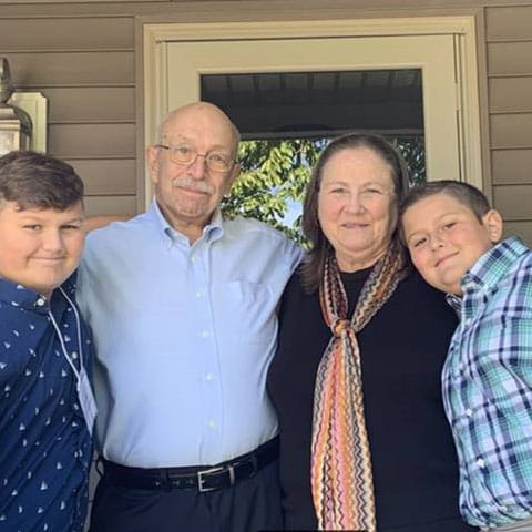 Steve Cottom and his family